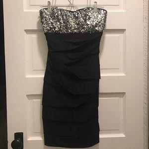 Sequin bodycon dress | black